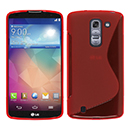 Coque LG G Pro 2 D838 F350 S-Line Silicone Gel Housse - Rouge