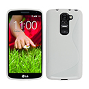 Coque LG G2 Mini LTE D620 S-Line Silicone Gel Housse - Blanche