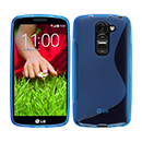 Coque LG G2 Mini LTE D620 S-Line Silicone Gel Housse - Bleu
