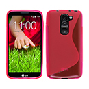 Coque LG G2 Mini LTE D620 S-Line Silicone Gel Housse - Rose Chaud