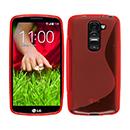Coque LG G2 Mini LTE D620 S-Line Silicone Gel Housse - Rouge