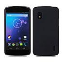 Coque LG Google Nexus 4 E960 Plastique Etui Rigide - Noire