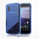 Coque LG Google Nexus 4 E960 S-Line Silicone Gel Housse - Bleu
