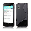 Coque LG Google Nexus 4 E960 S-Line Silicone Gel Housse - Noire