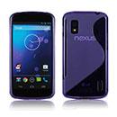 Coque LG Google Nexus 4 E960 S-Line Silicone Gel Housse - Pourpre