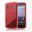 Coque LG Google Nexus 4 E960 S-Line Silicone Gel Housse - Rouge