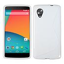 Coque LG Google Nexus 5 D820 D821 S-Line Silicone Gel Housse - Blanche