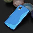 Coque LG Google Nexus 5 D820 D821 S-Line Silicone Gel Housse - Bleu