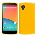 Coque LG Google Nexus 5 D820 D821 Silicone Gel Housse - Jaune