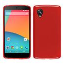 Coque LG Google Nexus 5 D820 D821 Silicone Gel Housse - Rouge