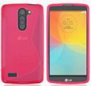 Coque LG L Bello D331 D335 S-Line Silicone Gel Housse - Rose Chaud