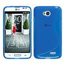 Coque LG L70 D325 S-Line Silicone Gel Housse - Bleu