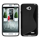 Coque LG L70 D325 S-Line Silicone Gel Housse - Noire