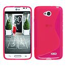 Coque LG L70 D325 S-Line Silicone Gel Housse - Rose Chaud