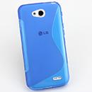 Coque LG L90 D410 S-Line Silicone Gel Housse - Bleu