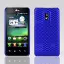 Coque LG Optimus 2X P990 Filet Plastique Etui Rigide - Bleu