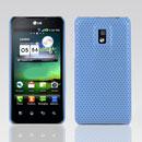 Coque LG Optimus 2X P990 Filet Plastique Etui Rigide - Bleue Ciel