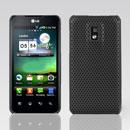 Coque LG Optimus 2X P990 Filet Plastique Etui Rigide - Noire
