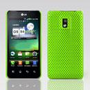 Coque LG Optimus 2X P990 Filet Plastique Etui Rigide - Verte