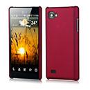 Coque LG Optimus 4X HD P880 Plastique Etui Rigide - Rouge