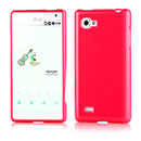 Coque LG Optimus 4X HD P880 Silicone Gel Housse - Rouge
