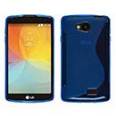 Coque LG Optimus F60 Tribute LS660 S-Line Silicone Gel Housse - Bleu