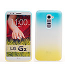 Coque LG Optimus G2 Degrade Silicone Gel Housse - Bleu