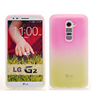 Coque LG Optimus G2 Degrade Silicone Gel Housse - Rose Chaud