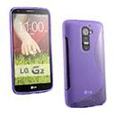 Coque LG Optimus G2 S-Line Silicone Gel Housse - Pourpre