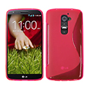 Coque LG Optimus G2 S-Line Silicone Gel Housse - Rose Chaud