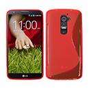 Coque LG Optimus G2 S-Line Silicone Gel Housse - Rouge