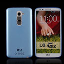 Coque LG Optimus G2 Silicone Transparent Housse - Bleu