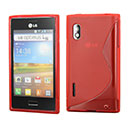 Coque LG Optimus L5 E610 S-Line Silicone Gel Housse - Rouge
