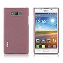 Coque LG Optimus L7 P700 Sables Mouvants Etui Rigide - Rose