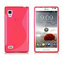 Coque LG Optimus L9 P760 S-Line Silicone Gel Housse - Rose