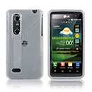 Coque LG P920 Optimus 3D S-Line Silicone Gel Housse - Blanche