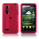 Coque LG P920 Optimus 3D S-Line Silicone Gel Housse - Rouge