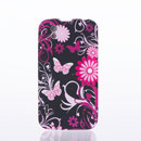 Coque LG P970 Optimus Black Papillon Silicone Housse Gel - Rose Chaud