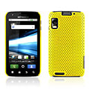 Coque Motorola Atrix MB860 Filet Plastique Etui Rigide - Jaune
