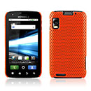 Coque Motorola Atrix MB860 Filet Plastique Etui Rigide - Orange