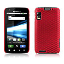 Coque Motorola Atrix MB860 Filet Plastique Etui Rigide - Rouge