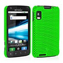 Coque Motorola Atrix MB860 Filet Plastique Etui Rigide - Verte