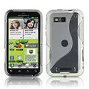 Coque Motorola Defy MB525 S-Line Silicone Gel Housse - Blanche