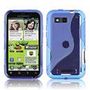 Coque Motorola Defy MB525 S-Line Silicone Gel Housse - Bleu
