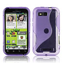 Coque Motorola Defy MB525 S-Line Silicone Gel Housse - Pourpre