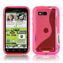 Coque Motorola Defy MB525 S-Line Silicone Gel Housse - Rose