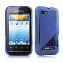 Coque Motorola Defy Mini XT320 S-Line Silicone Gel Housse - Bleu
