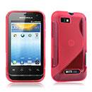 Coque Motorola Defy Mini XT320 S-Line Silicone Gel Housse - Rouge
