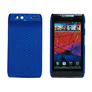 Coque Motorola Droid Razr Maxx XT912 Filet Plastique Etui Rigide - Bleu