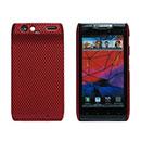 Coque Motorola Droid Razr Maxx XT912 Filet Plastique Etui Rigide - Rouge